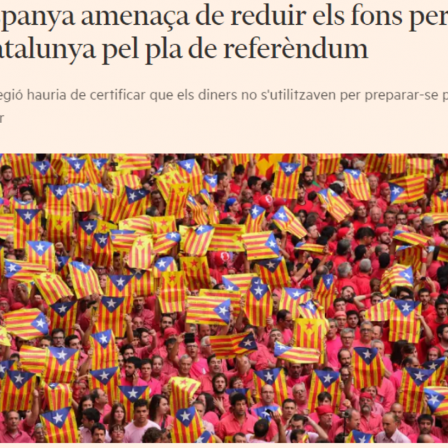 The 'Financial Times' warns of Spain's 'threat' to cut the FLA funding