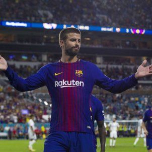 A goal from Piqué topples Real Madrid in the USA (2-3)