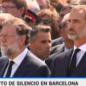 """TVE """"erases"""" Puigdemont from the images of the minute's silence tribute"""