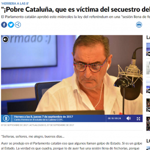 "From ""train crash"" to ""assault"", Spanish radio attacks the Referendum Law"