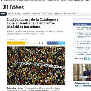 'Le Monde' editorial urges Rajoy to allow 1st October referendum