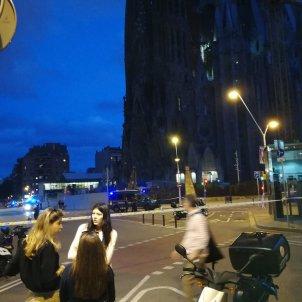 False alarm at Sagrada Familia