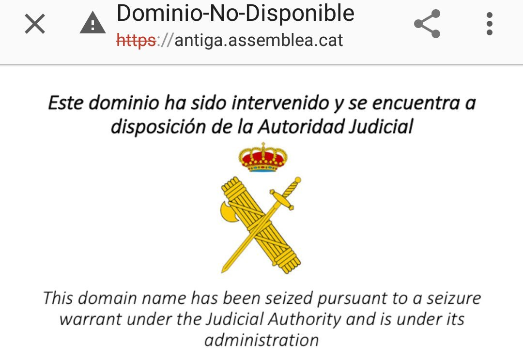 Spanish Civil Guard closes website of a major pro-independence organisation