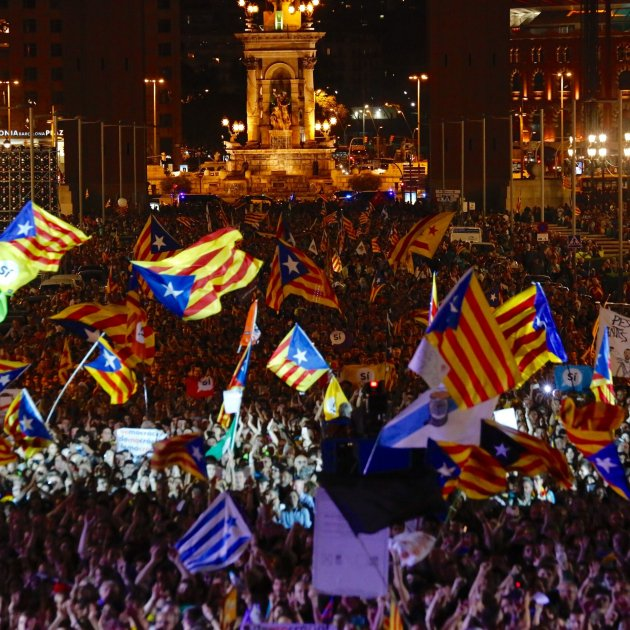 54.9% of Catalans, in favour of continuing with path to independence