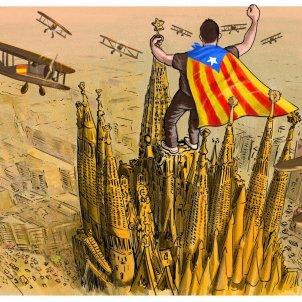 Cartoon in 'The Telegraph' on Catalan audacity