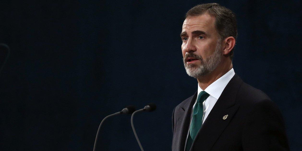 """Spanish king Felipe VI on the """"unacceptable secession attempt"""" in Catalonia"""