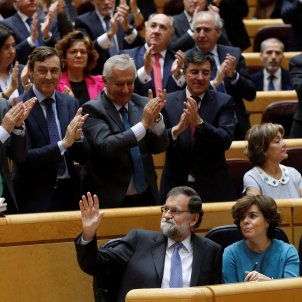 Alliance of parties imposes itself in the Spanish Senate to suspend Catalan self-government