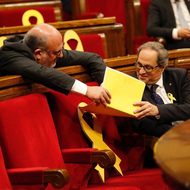 Torra's letter urging Rajoy to publish the Catalan ministers' appointments