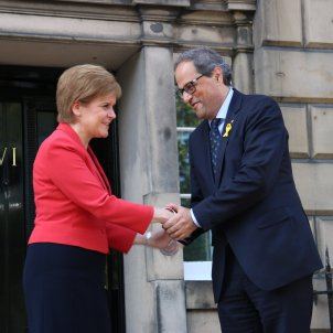 Spanish diplomatic protest for Sturgeon's support of Torra (over self-determination)