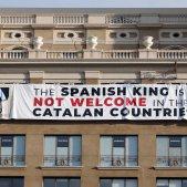 Barcelona banner against Spanish king also gets hung in international media