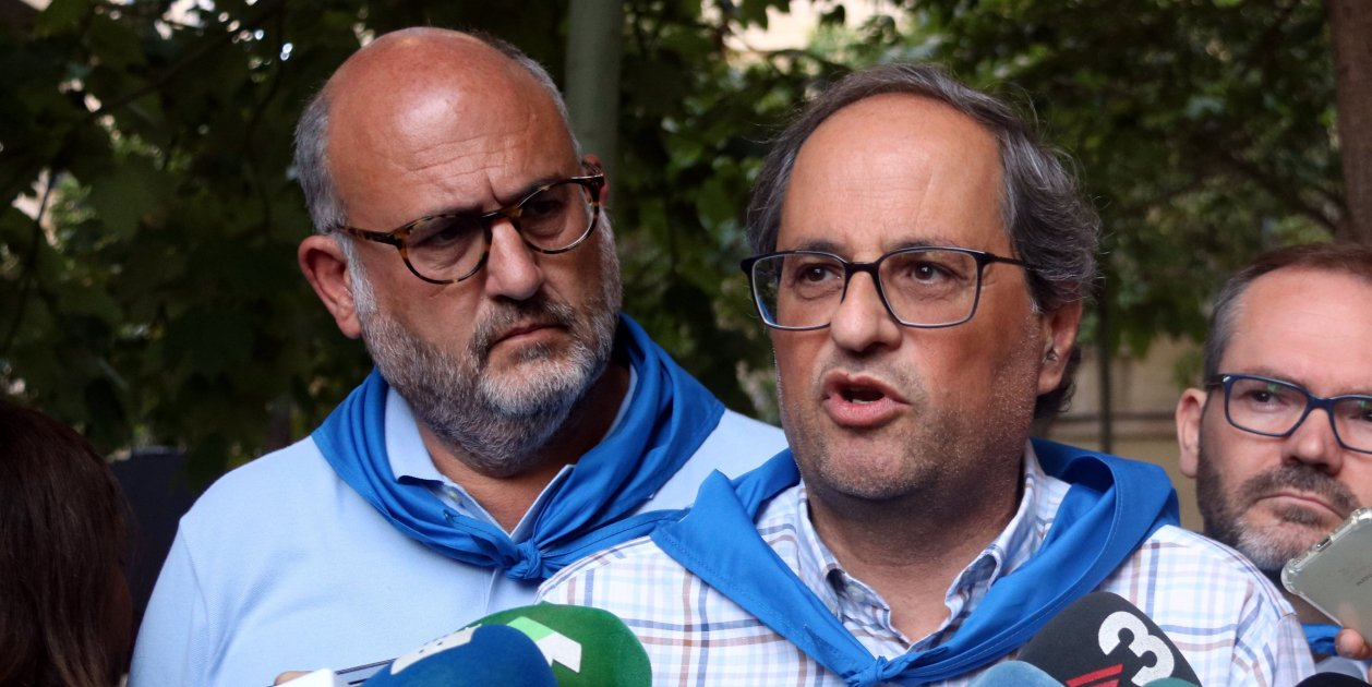 """Torra asks Madrid to respond after """"unacceptable"""" Spanish police actions"""