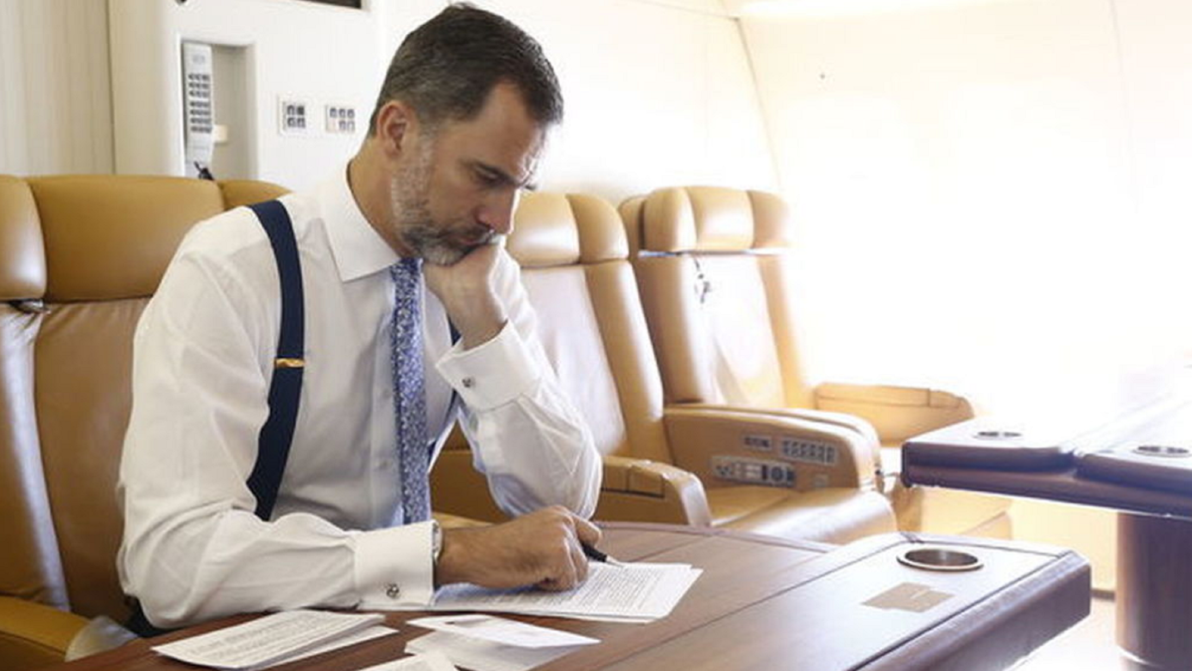 The Spanish royals' luxury holiday starts on their plane