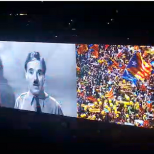The Catalan process, on the big screen in U2's European tour
