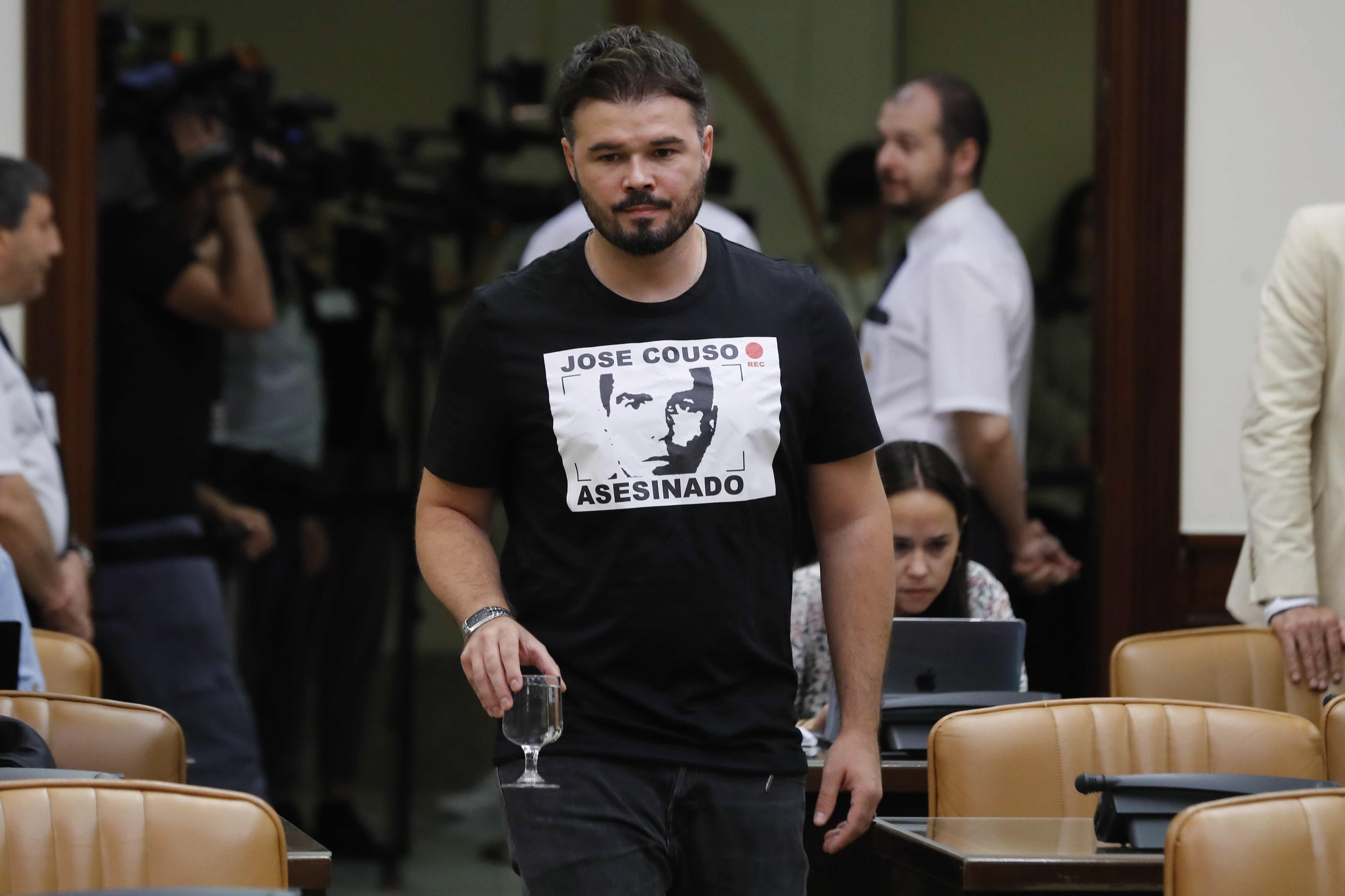 Rufián compares former PM Aznar to Vito Corleone in the Congress