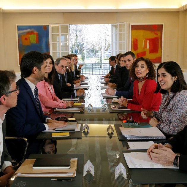 Spain-Catalonia dialogue table to meet monthly, alternating Madrid and Barcelona