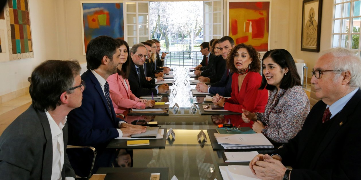 Spain-Catalonia dialogue table holds first meeting