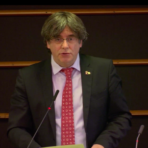 Puigdemont warns EU Parliament to attend to damaged democracy as well as economy