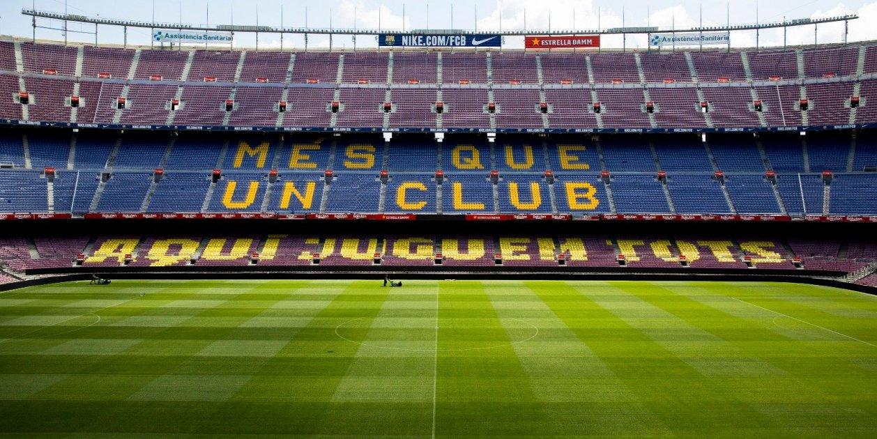 Camp Nou Buit Sense Public Mosaic Barca Leganes Fc Barcelona