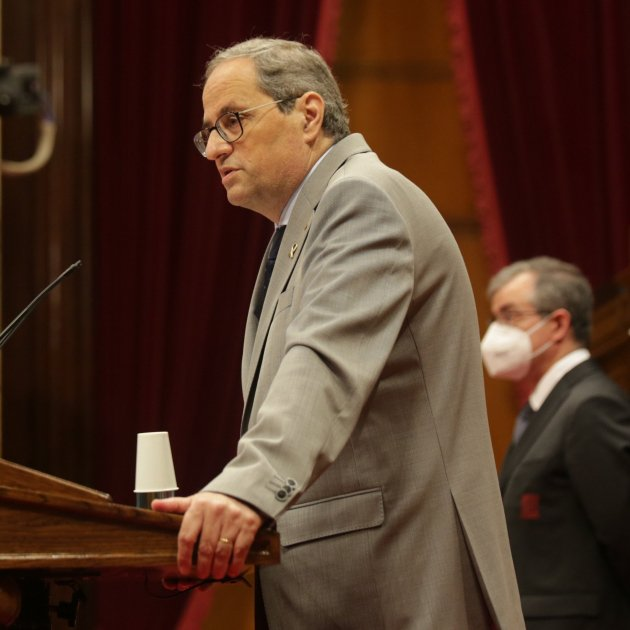 Torra calls on Catalan Parliament for a broad pact in the face of a huge crisis