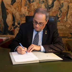 "Quim Torra: ""The government needed strengthening and new energy"""