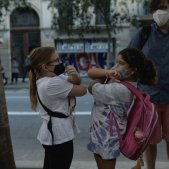 Uncertainties and smiles from behind masks: Catalonia's 2020 return to school