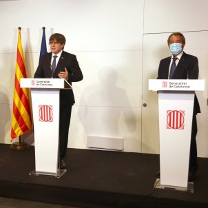 Catalan presidents Mas, Puigdemont and Torra join to denounce Spain's repression