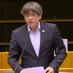 """It's shameful"": Puigdemont reminds MEPs that Spain jailed their colleague, Junqueras"