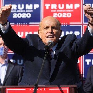 "Donald Trump's ""stolen votes"" were sent ""to Barcelona"", claims Rudy Giuliani"