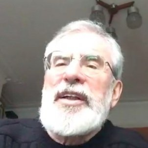 "Ireland's Gerry Adams tells jailed Catalan leaders: ""You know we support you"""