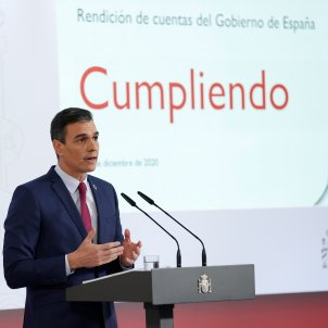 Sánchez's summary of achievements is quiet about the Catalan political prisoners