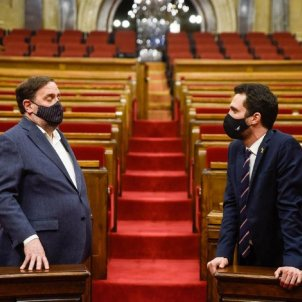 Junqueras returns to the Catalan Parliament with a spirit of victory