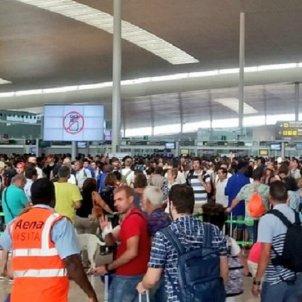 Barcelona airport strike: queues are back despite police presence