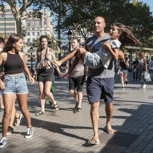 VIDEO | The 2017 attack on Barcelona's Rambla and the terrorist's flight