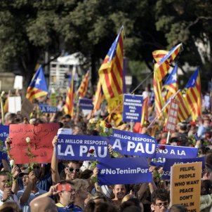 """""""We took out our Catalan flag on seeing the Spanish ones"""""""