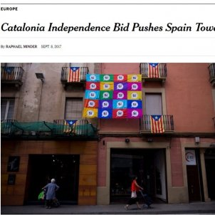 """The New York Times: """"Catalonia Independence Bid Pushes Spain Toward Crisis"""""""