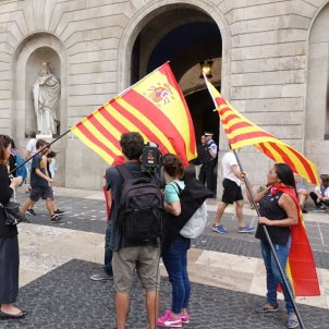 Aggression towards independence supporters in central Barcelona