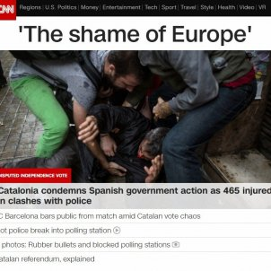 "CNN condemns brutality in Catalonia: ""The shame of Europe"""