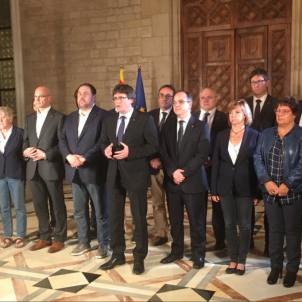 Puigdemont will take a declaration of independence to the Catalan Parliament