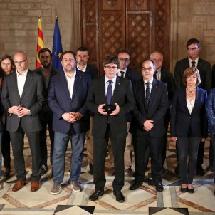 With the legitimate government of Catalonia