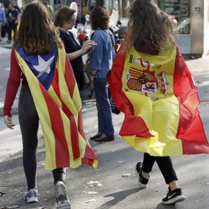 Why are there so many different flags around Catalonia?