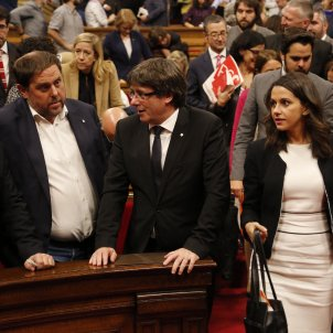 """The declaration: """"We constitute the Catalan Republic as an independent, sovereign State"""""""