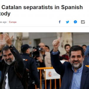 International media on the imprisonment of Sànchez and Cuixart