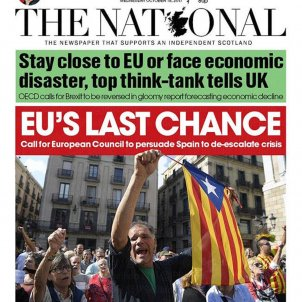 """'The National' front page: """"EU's last chance"""" over Catalonia"""
