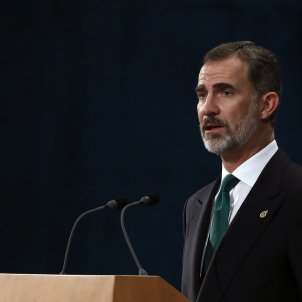 "Spanish king Felipe VI on the ""unacceptable secession attempt"" in Catalonia"