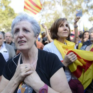 Euphoria in the streets after the proclamation of the Catalan Republic