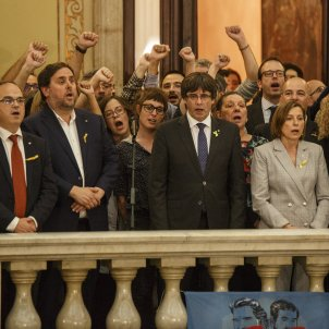 "Puigdemont: ""Hours are coming in which we will have to maintain the pulse of our country"""