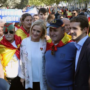 PP leaders join with extreme right in Madrid rally for Spanish unity