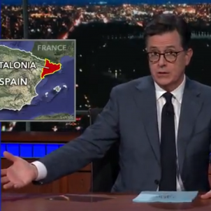 Stephen Colbert takes on the Catalonia issue