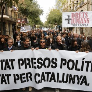 Catalan lawyers put on their robes and take to the streets in protest