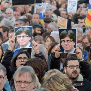 """Messages from Puigdemont, exiled ministers to today's rally: """"We have the right to be a new country"""""""